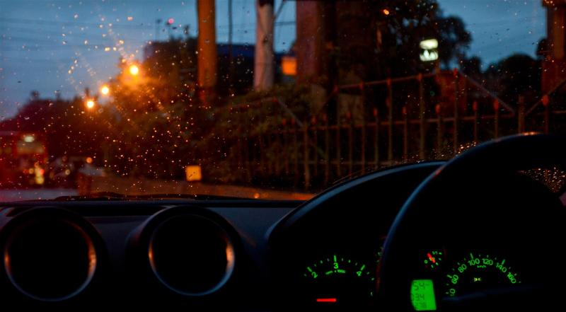 Driving around in the dusk