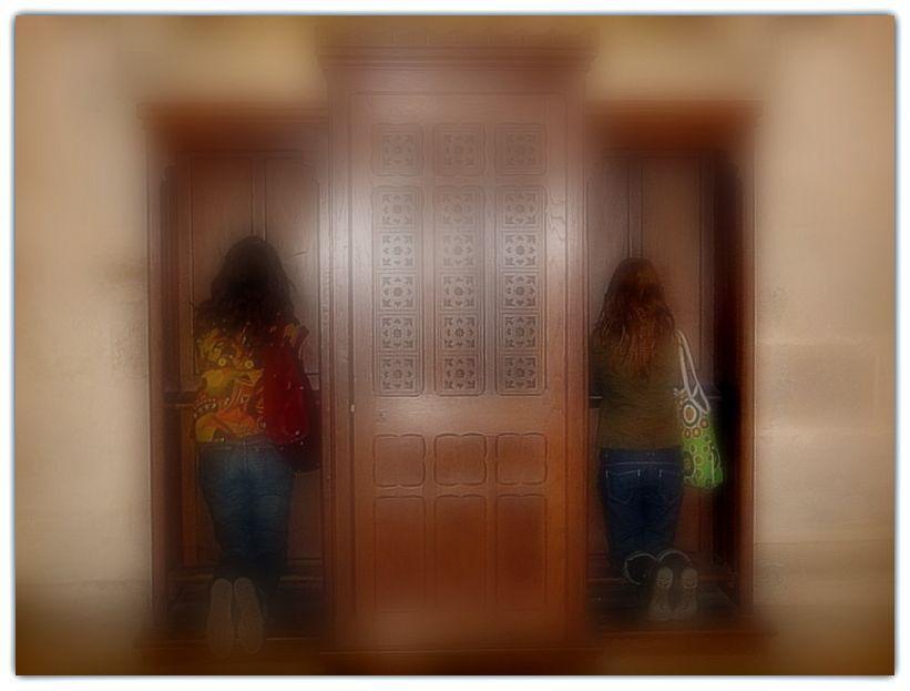 église, confessional, religion filles, prière,