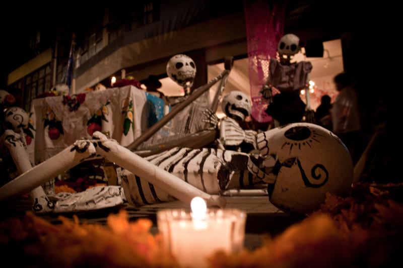 Calle de Regina, dia de muertos 2011