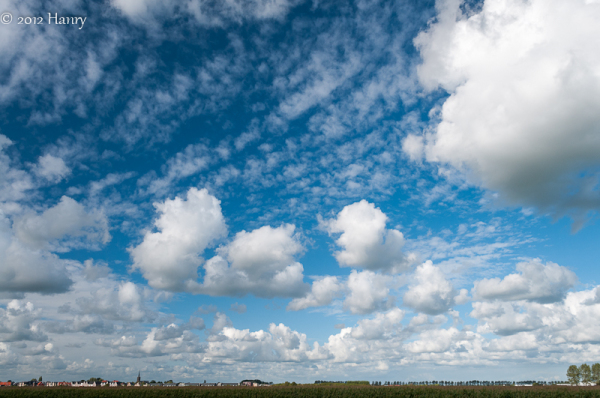 wolken blauw lucht clouds blue sky