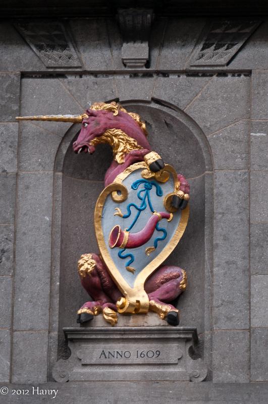 eenhoorn gevelornament unicorn facade ornament