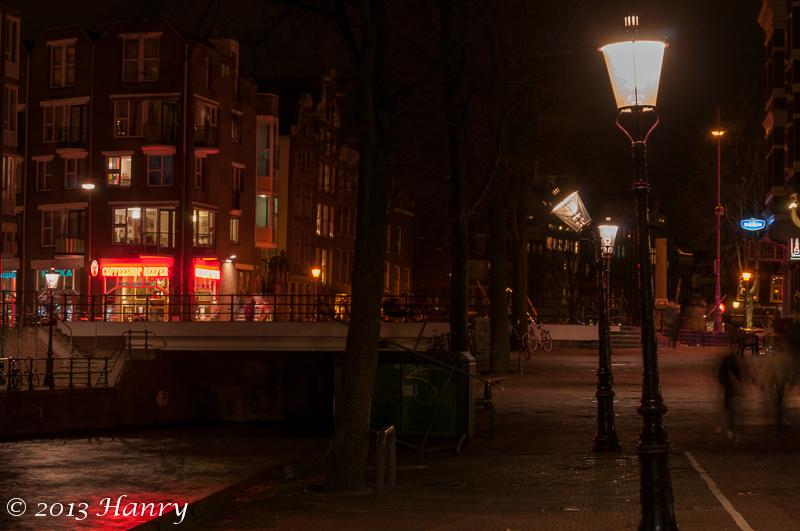 amsterdam lantaarn scheef lantern skewed straat