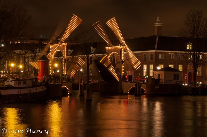 amsterdam brug open lichten bridge open lights