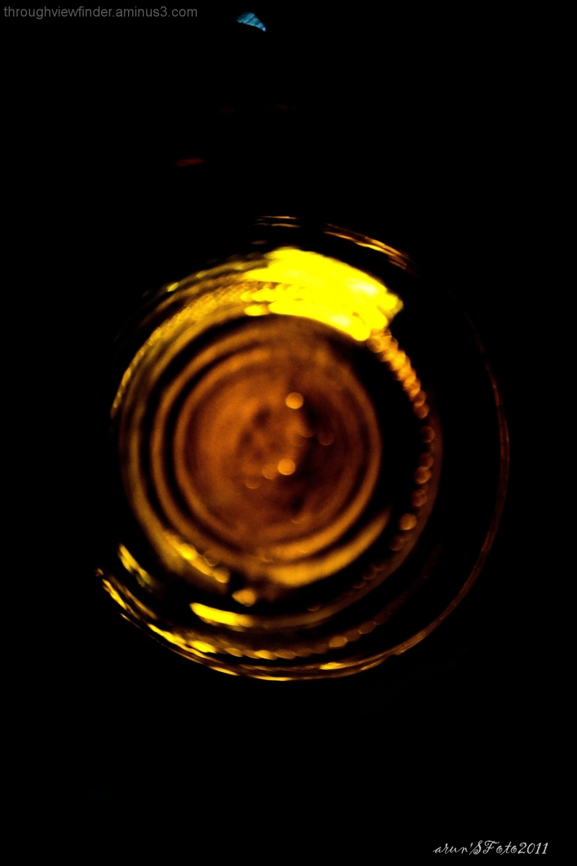 beer bottle turned to rings