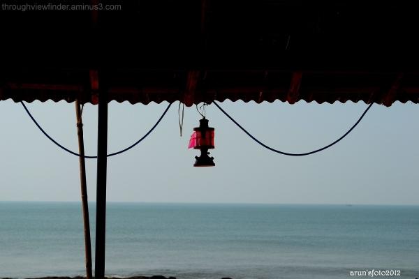 lamp in a seashore restaurant in goa