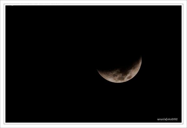 a capture of half moon