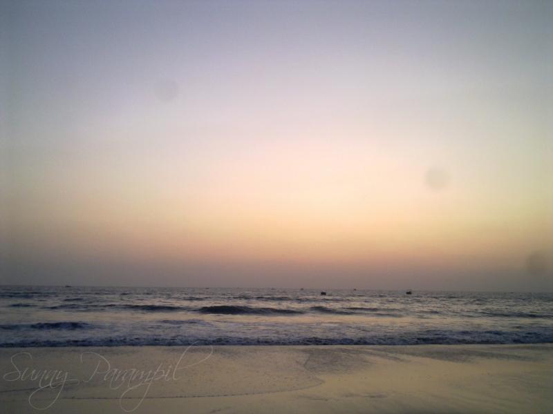 Sunset on a sun kissed beach