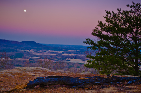 Moon rushing towards a lunar eclipse