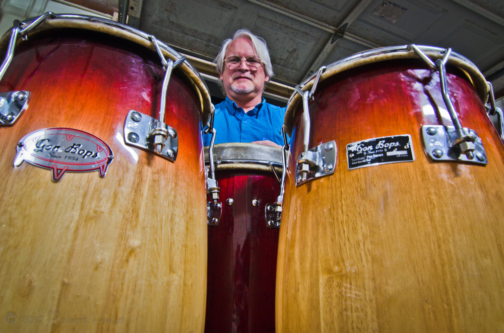 Robert Heym at his conga drums.