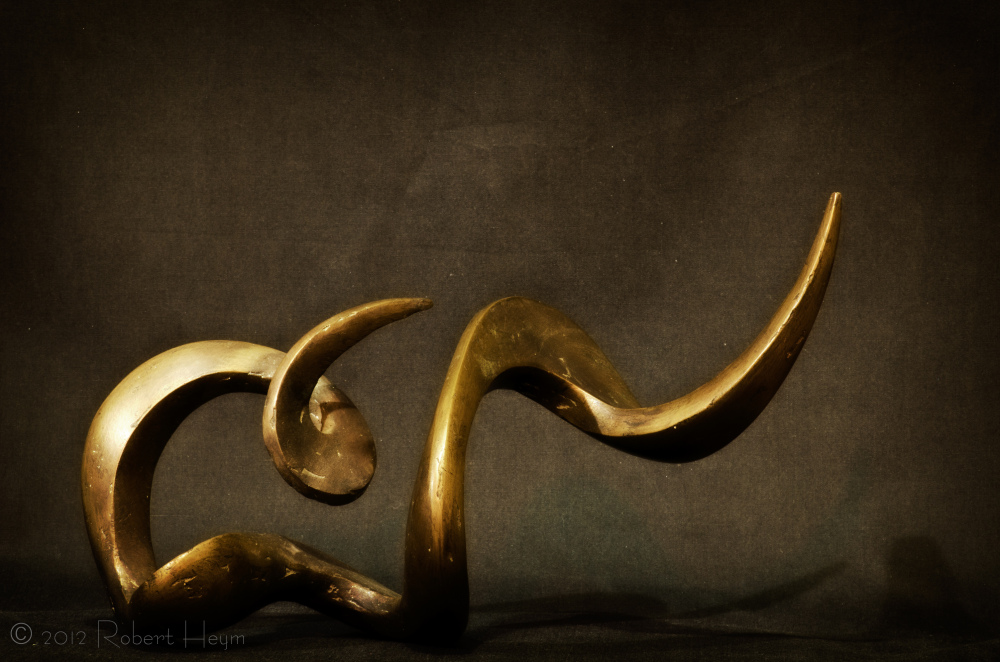 An abstract sculpture by Kewal Soni