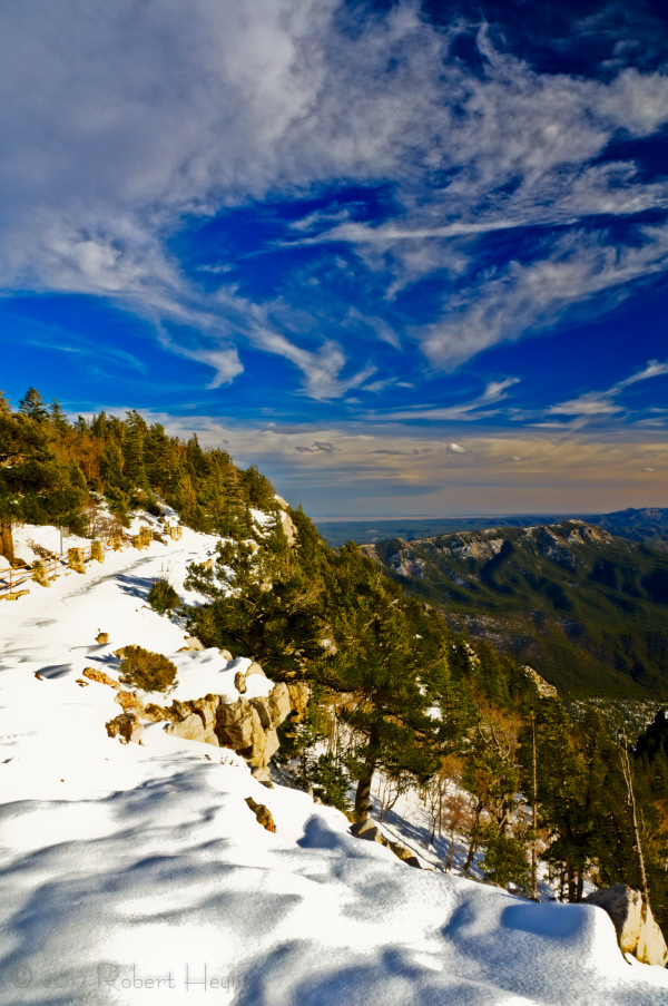 Ridgeline trail at Sandia Crest