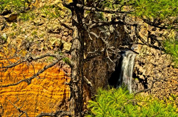 Waterfall at Bandalier National Monument