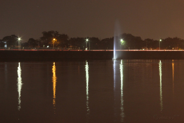 Long Exposure of Tank Bund Road, Hyderabad