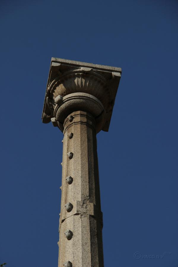 Pillar of a temple at Chitradurga Fort...
