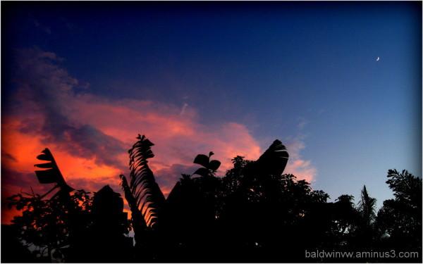 Moon sunset ...