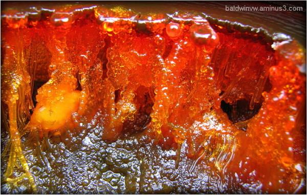 Boiling lava ...