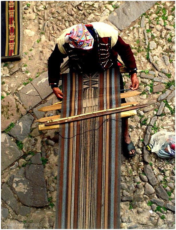 Weaving ...
