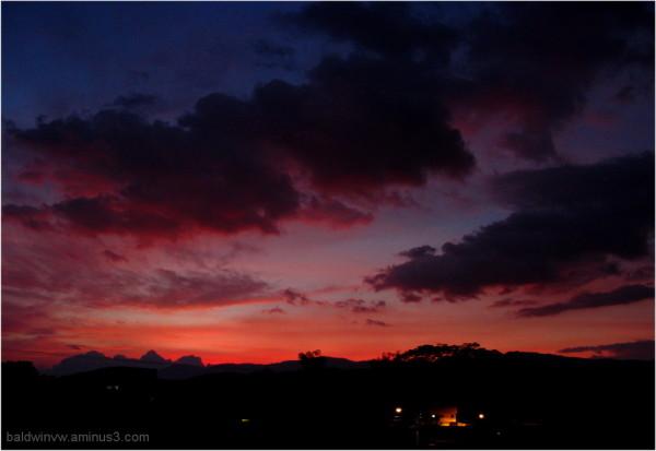 After dark ...