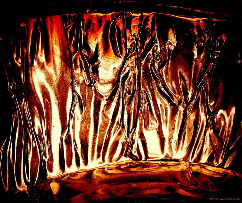 Burning flames ...