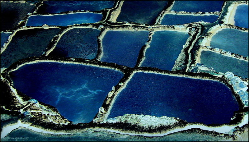 Blue salty puddles ...