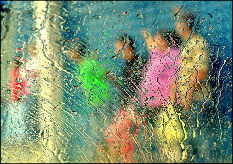 Under the rain ...
