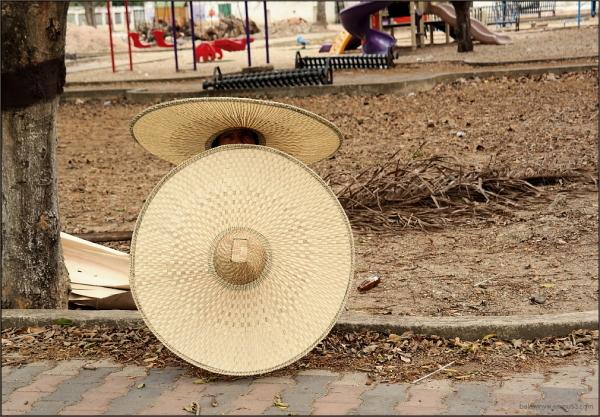 The hat man (seller) ...