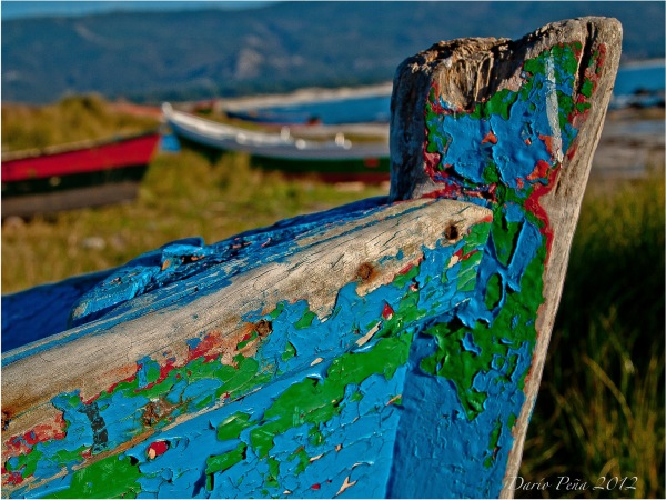 Boat at  Carnota, Galicia, Spain.