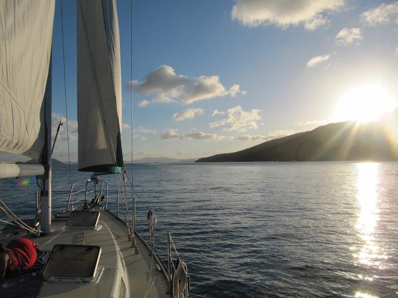 Sailing back...
