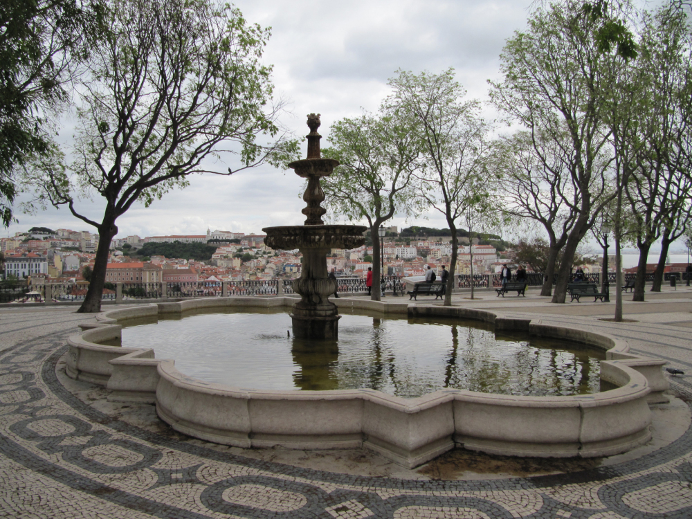 Fountain over the city