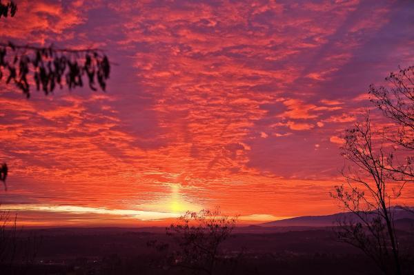 Sonnenuntergang im Friaul