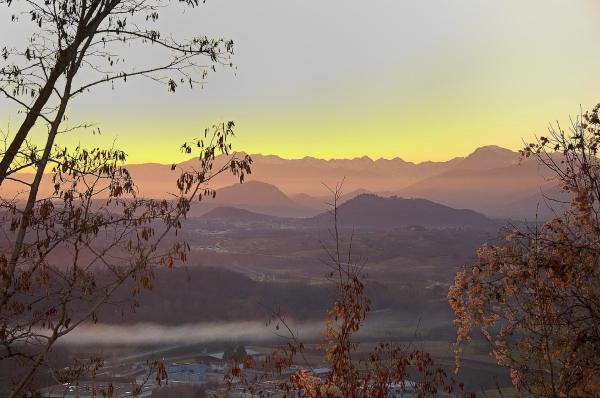 Sicht auf die Berge im Friaul (Italien)
