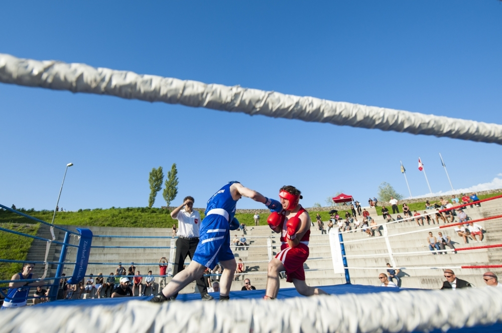 Boxkampf  in der Amphitheater arena in Huentwangen