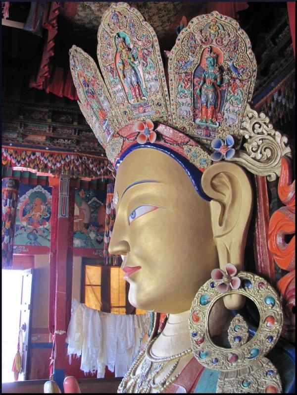 Maitreya Buddha at Thiksey, Leh, India