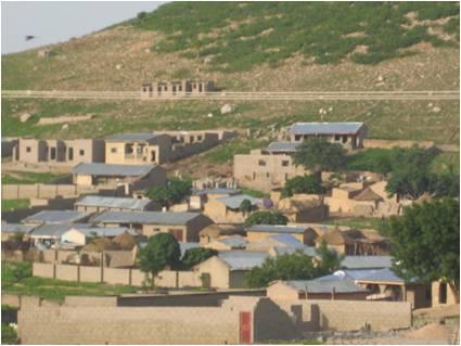 settlement around hills in Yauri