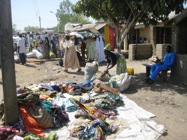 Second Hand cloth merchant in Yauri Market