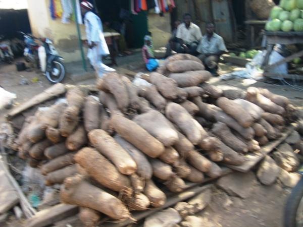 Yam on sale in Yauri Market