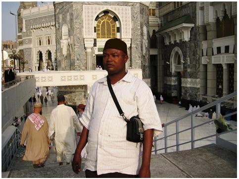 At Masjid Haram in Makkah