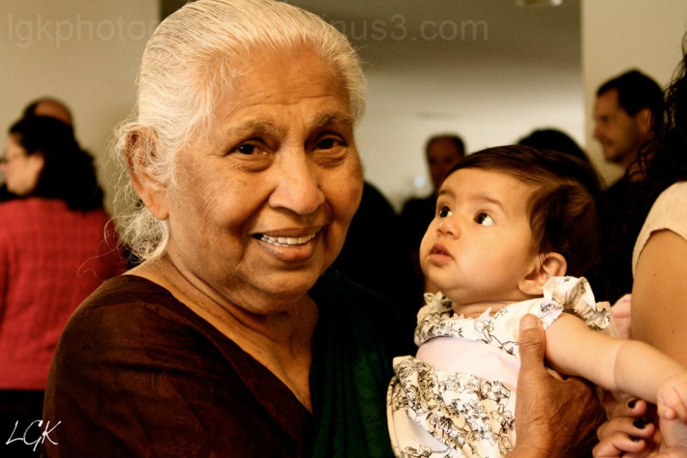 A great grandma and her great granddaughter