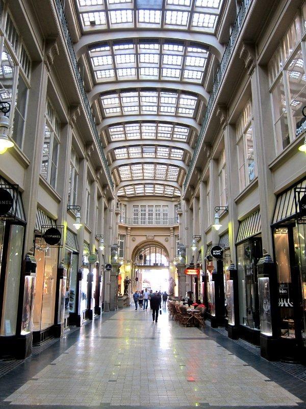 Shopping arcade in Leipzig, Germany