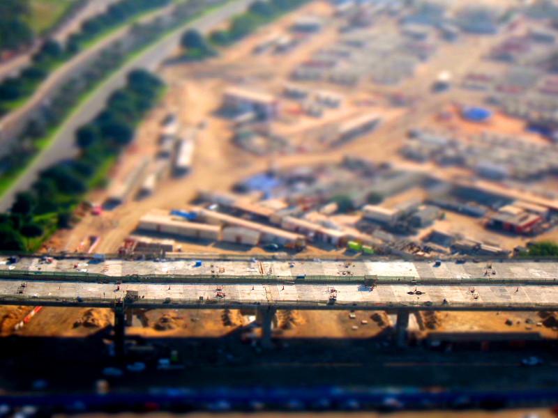 Parallel Road construction, Dubai, UAE