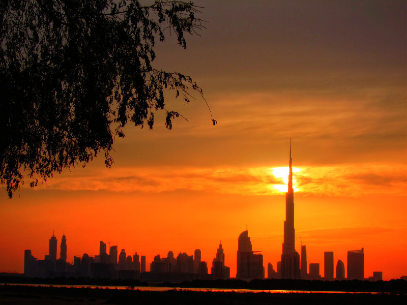 Burj Khalifa and Business Bay, Dubai