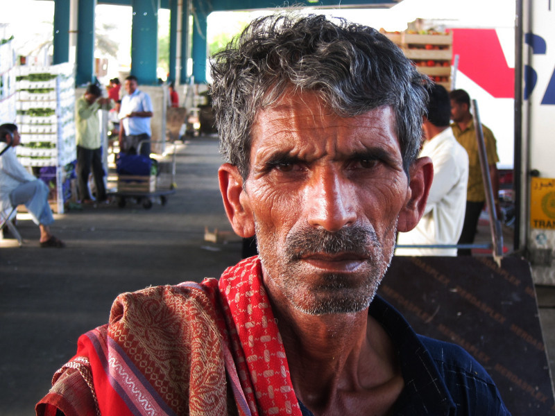 Worker at the Fruit and Vegetable Market, Dubai