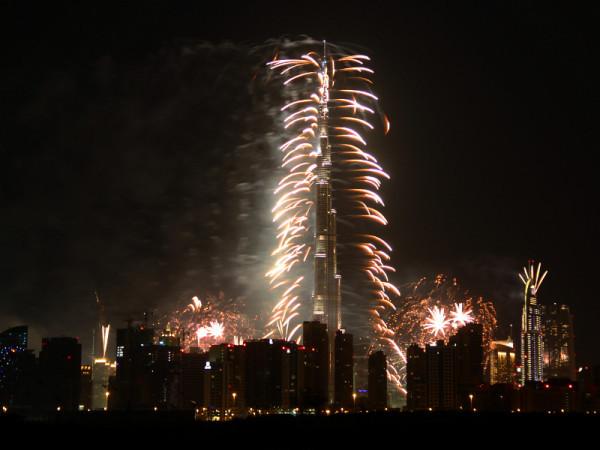 Fireworks, Burj Khalifa, Dubai