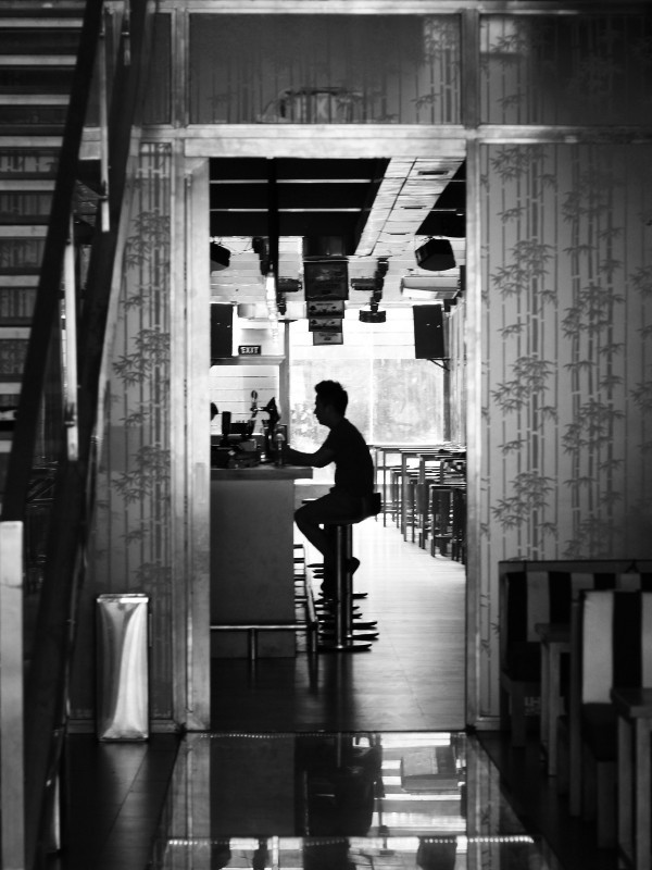 Cafe patron, Hanoi, Vietnam