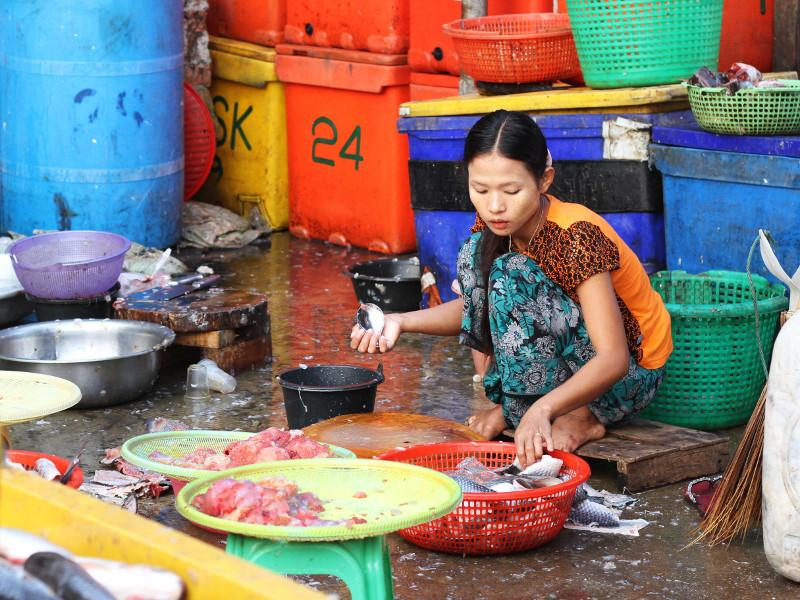 San Pya Fish Market, Yangon, Myanmar Thiri Mingala