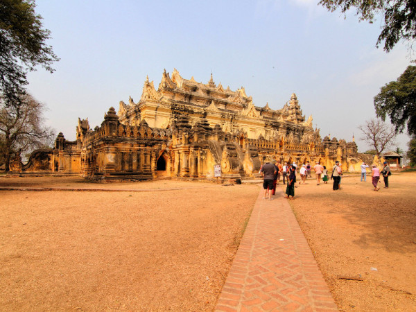 Maha Aung Mye Bonzan monastery, Inwa, Myanmar