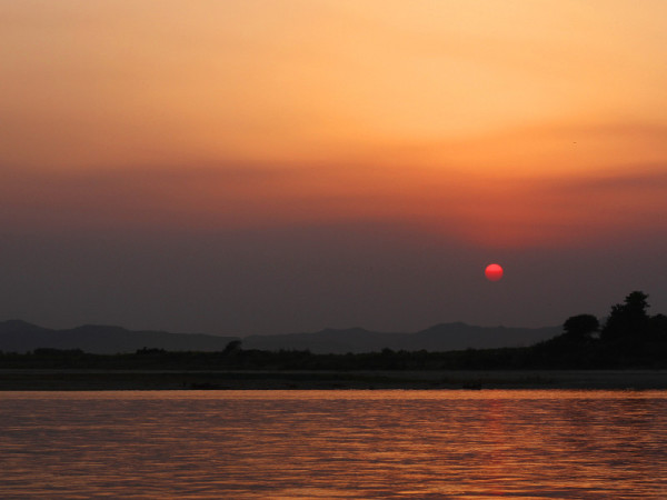 Irrawaddy River, Bagan, Myanmar