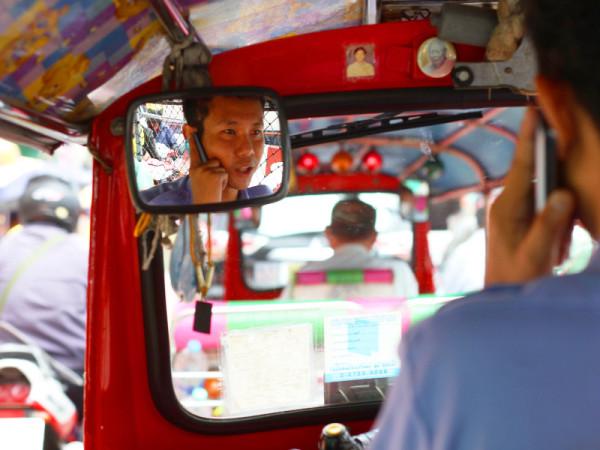 Tuk-tuk drive, Bangkok, Thailand