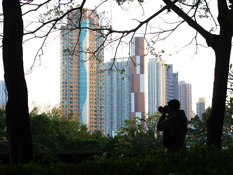 Photographer, Kowloon Walled City Park, Hong Kong