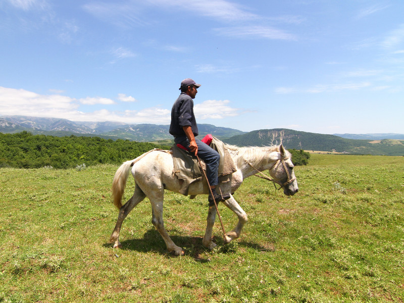 Man on horse, Azerbaijan